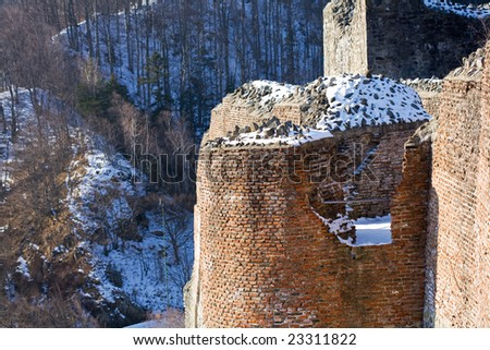 Ruins of Dracula's fortress in Romania