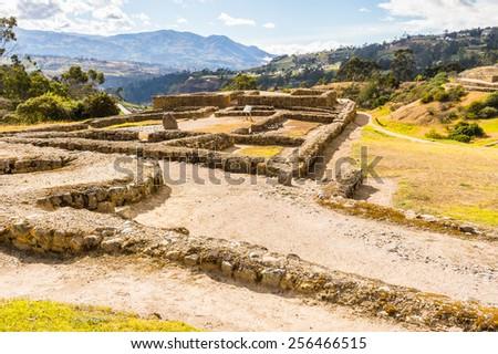 Ruins of Ingapirca, Inca city,  Canar Province, EcuadoEcuador - stock photo