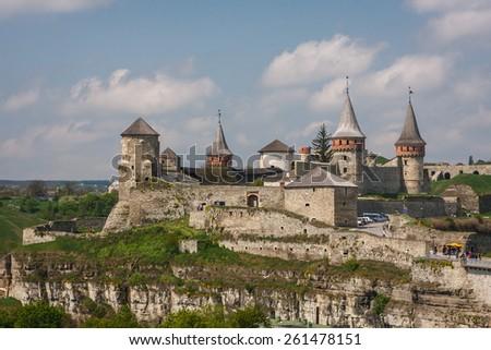 Ruins of Kamyanets-Podilsky castle, Ukraine - stock photo