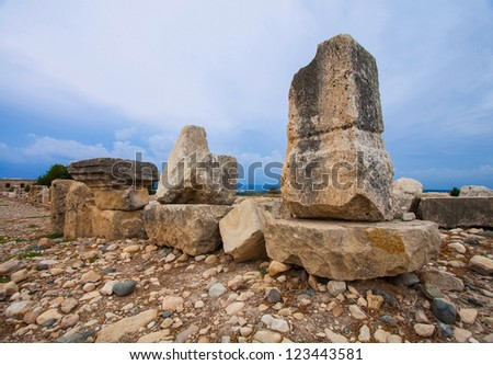 Ruins of Kourion - ancient city-state in Cyprus