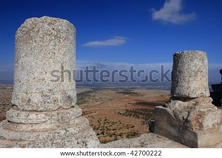ruins of monastery San Simon in Syria