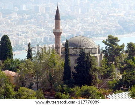 Ruins of old city in Alania, Turkey - stock photo