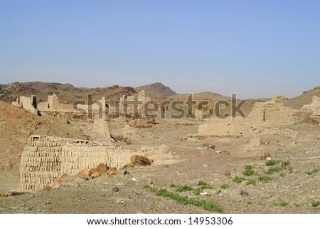 Ruins of Ongi monastery, Mongolia - stock photo