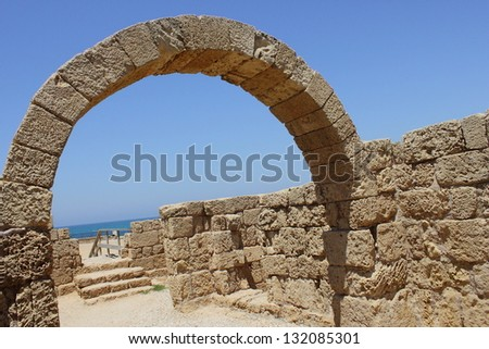 Ruins of roman / byzantine period - stock photo