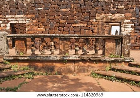 Ruins of San Ignacio, Argentina - stock photo