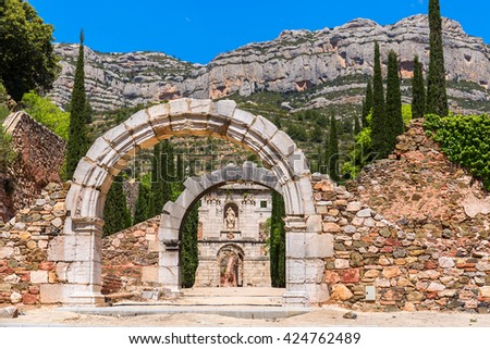 Ruins of Scala Dei, a medieval Carthusian Monastery in Catalonia
