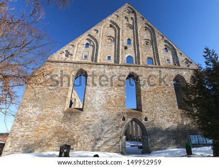 Ruins of St. Brigitta convent in Pirita region, Tallinn, Estonia - stock photo