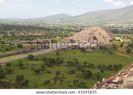 Ruins of Teotihuacan - stock photo
