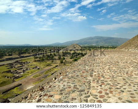 Ruins of Teotihuacan Mexico city , Mexico - stock photo