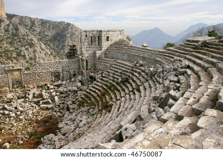 Ruins of Termessos town - stock photo