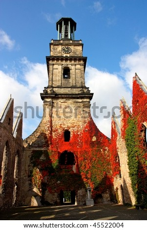 Ruins of the 	Aegidien Church in Hanover, Germany - stock photo