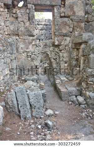 Ruins of the ancient city at Phaselis