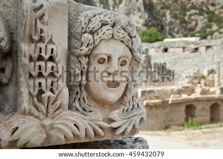 Ruins of the ancient city in Myra (Demre), Turkey