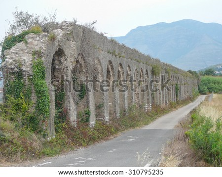 Ruins of the ancient city of Minturnae now Minturno in Lazio, Italy