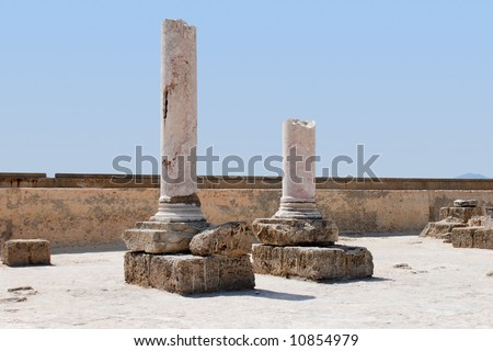Ruins of the Carthage, Tunisia (UNESCO World Heritage) - stock photo