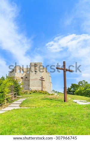 Ruins of the castle in Kazimierz Dolny, Poland - stock photo