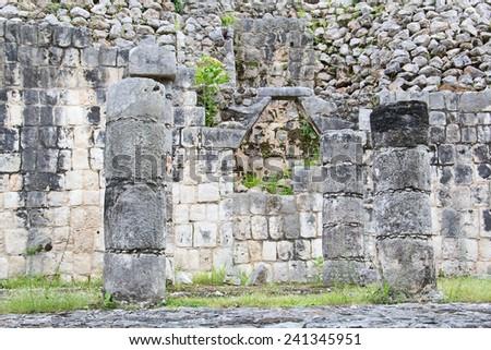 Ruins of the Chichen Itza in Mexico - stock photo