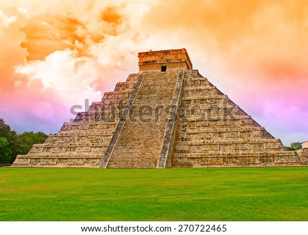 Ruins of the Chichen Itza in Mexico