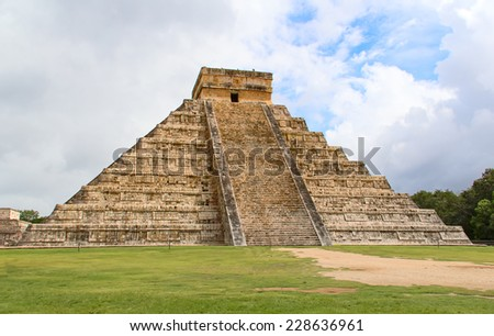 Ruins of the Chichen-Itza, Yucatan, Mexico - stock photo