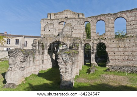 Ruins of the Coliseum located at Bordeaux, France - stock photo