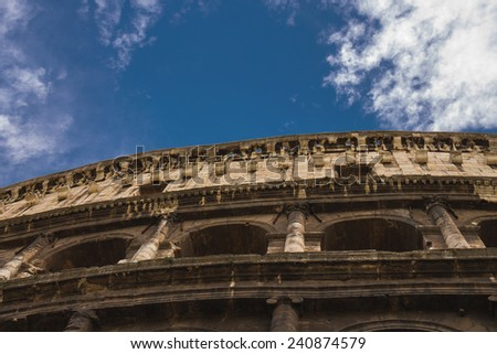 Ruins of the Colosseum in Rome, Italy - stock photo