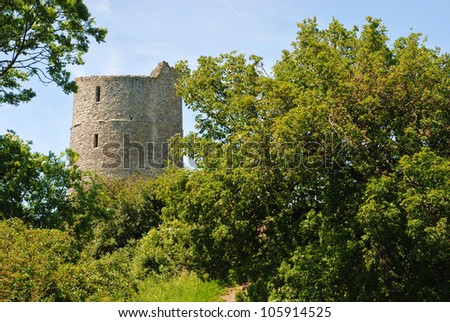 Ruins of the Hadleigh Castle, Essex, England - stock photo