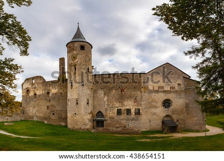 Ruins of the medieval episcopal castle of Haapsalu, Estonia