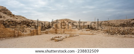 Ruins of the Saqqara necropolis, Egypt. UNESCO World Heritage