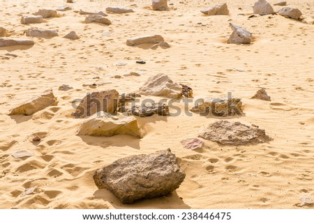 Ruins of the Temple of Alexander the Great, Egypt - stock photo
