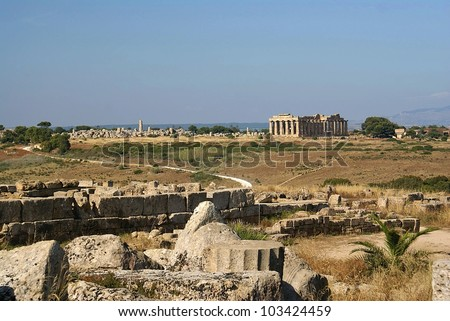 Ruins of the temple of Italy