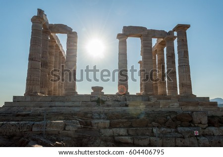 Ruins of the temple of Poseidon
