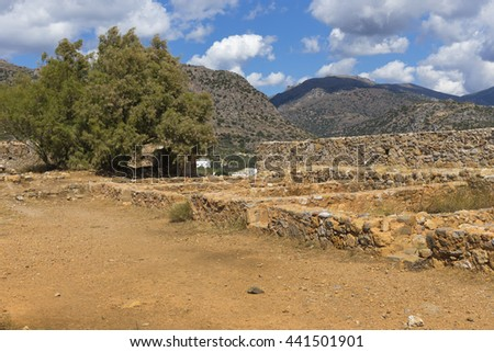 Ruins of the Venetian Castle in Paleochora, Crete, Greece