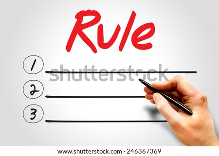RULE blank list, business concept - stock photo