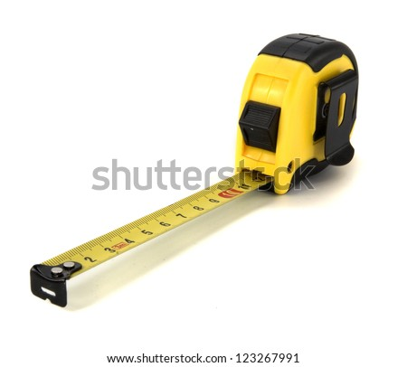 ruler on white background - stock photo