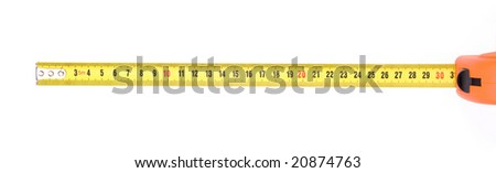 ruler tape isolated on white