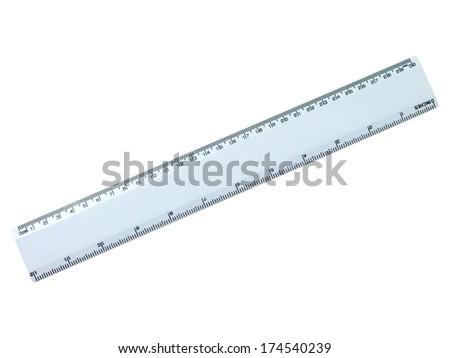 Rulers isolated against a plainwhite background - stock photo