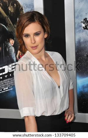 """Rumer Willis at the Los Angeles premiere of """"G.I. Joe: Retaliation"""" at the Chinese Theatre, Hollywood. March 28, 2013  Los Angeles, CA Picture: Paul Smith - stock photo"""
