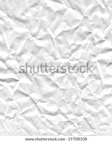 rumpled paper background - stock photo