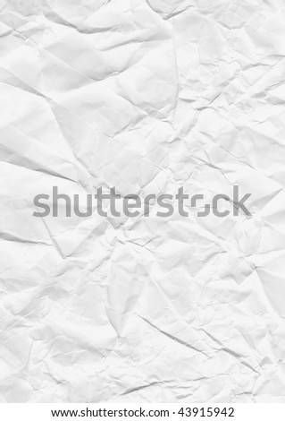 rumpled paper background texture - stock photo