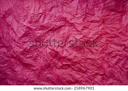 rumpled red background - stock photo