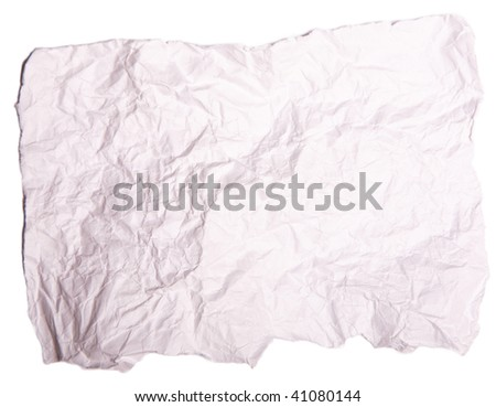 rumpling paper - stock photo