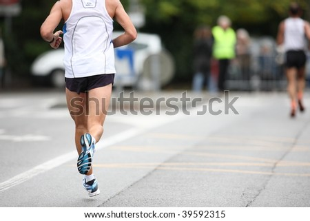 run - stock photo