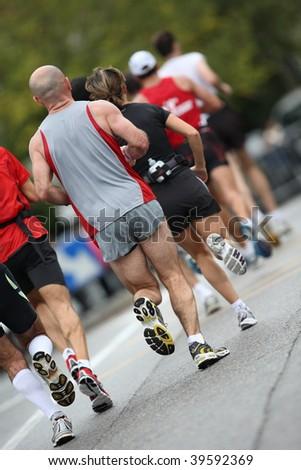 run - stock photo