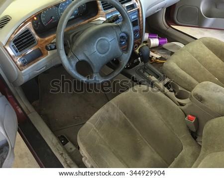 run down car interior car cabin stock photo 344929904 shutterstock. Black Bedroom Furniture Sets. Home Design Ideas
