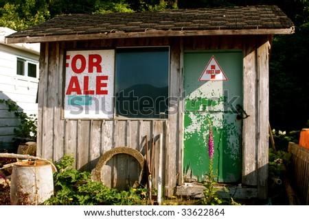 Run down shed - stock photo