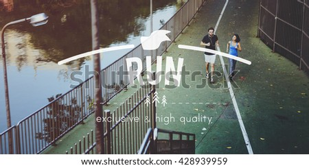 Run Exercise Fitness Workout Jogging Concept - stock photo