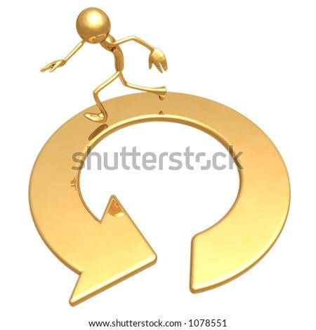 Run In Circles - stock photo