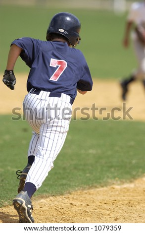 Run to first base - stock photo
