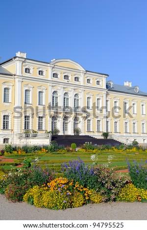 Rundale palace in Latvia - stock photo