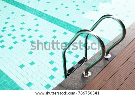 Rung ladder of swimming pool